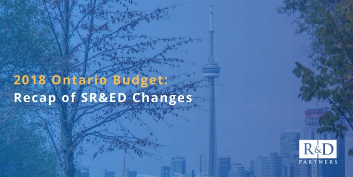 Here's what you need to know about the SR&ED changes proposed in the 2018 Ontario budget